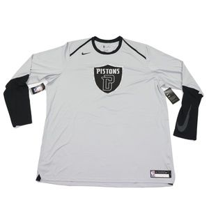 New Nike Detroit Pistons Team Issued Shirt Gray